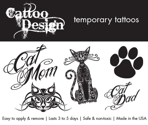 giveaway temporary cat tattoos from cattoo design. Black Bedroom Furniture Sets. Home Design Ideas