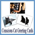 Conscious Cat Greeting Cards