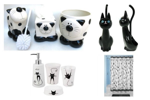 Black And White Cat Accessories To