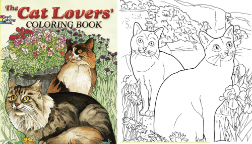 Cat Coloring Books Provide Relaxation And Fun