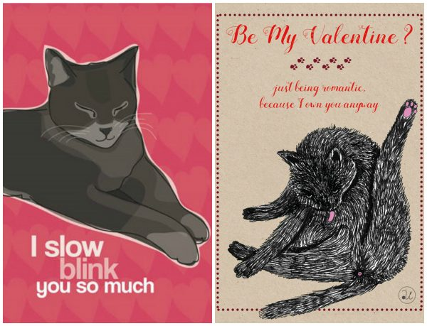 Catnip Toys For Valentine S Day : Valentine s day cat greeting cards the conscious
