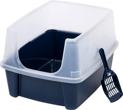 high sided litter boxes keep the mess inside the