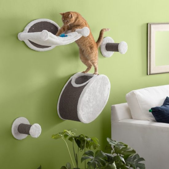 Trixie Pet 4 Piece Wall Mounted Cat Lounging Set The